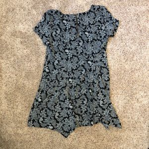 Black and gray paisley dress never worn before.